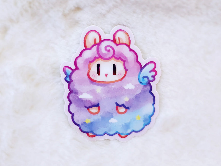 "Aurora Fluffy Sheep Alpaca 3"" Sticker"