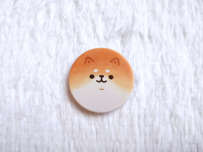 "Yeastken Bread Shiba Inu 1.5"" Expandable Pull Out-Up Phone Grip"