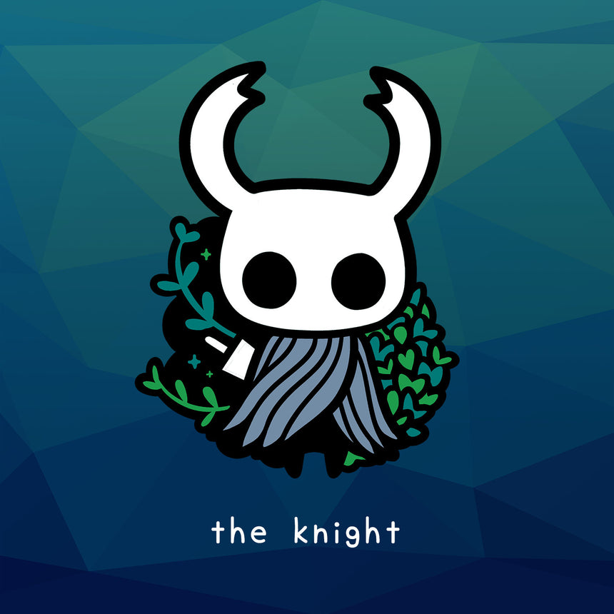 "Hollow Knight The Knight 3"" Sticker Green Path"