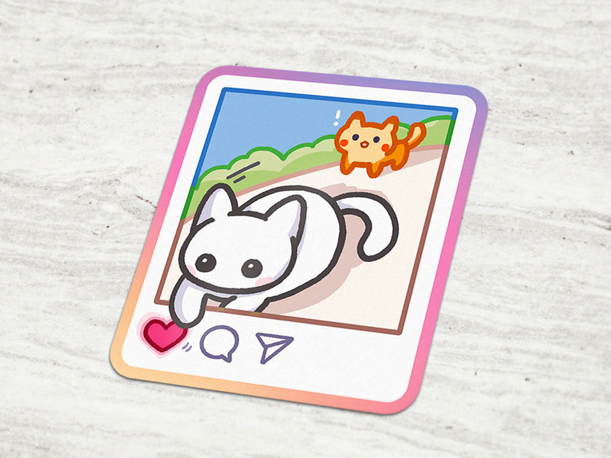 "Cat Instagram Like Follow 3"" Sticker"