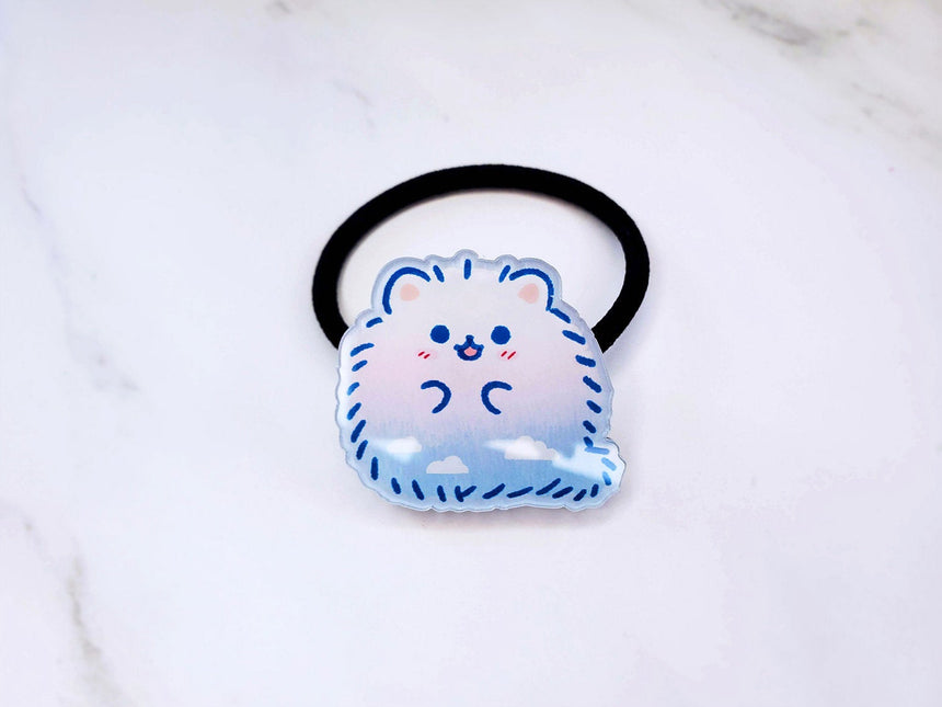"Sky Pomeranian 1"" Cute Dog Hair Tie Elastic Accessory"