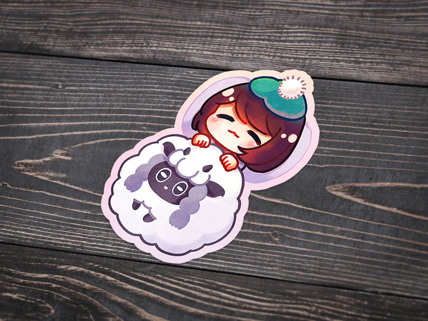 "Pokemon Wooloo Blanket Sword Shield Scottish Trainer 3"" Sticker"