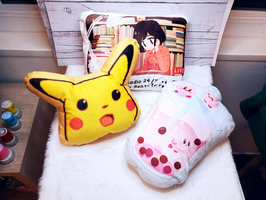 Surprised Pikachu Shocked Pikachu 11-inch wide Plushie, Pokemon meme