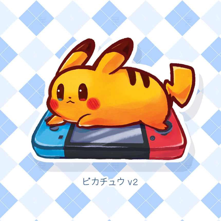 "Pikachu Recharge Pokemon Nintendo Switch 3"" Sticker"