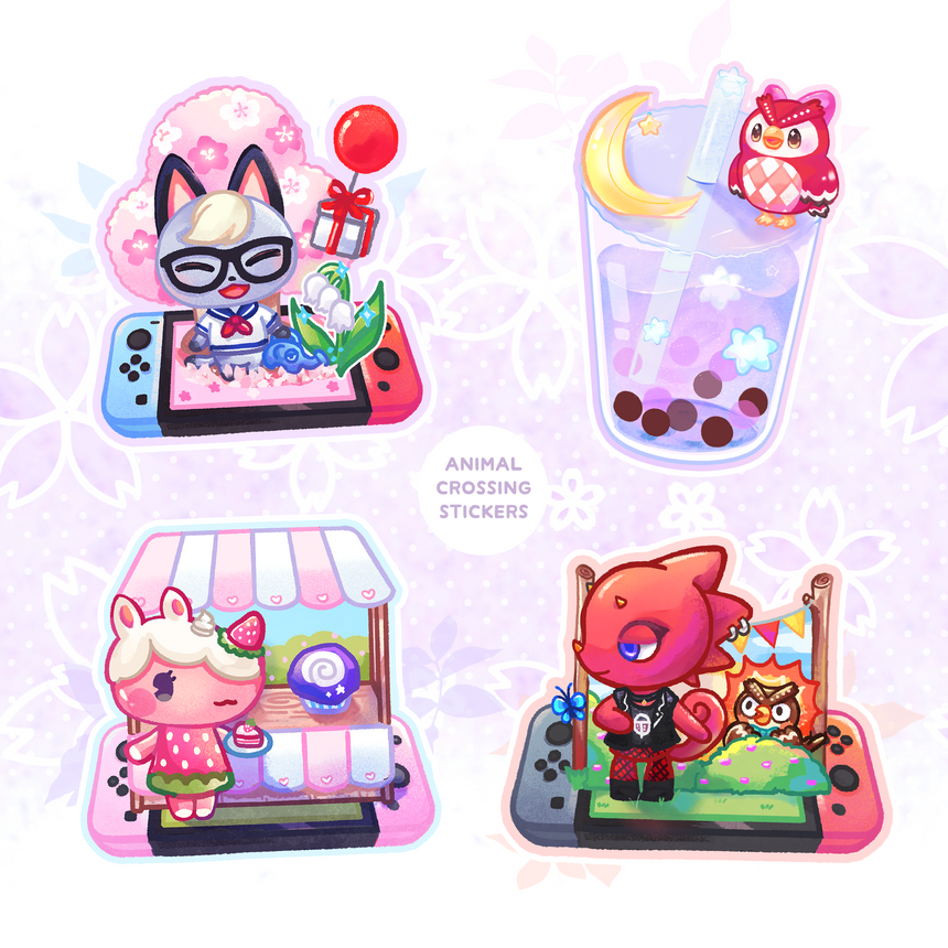 "Merengue Animal Crossing 3"" Sticker, Nintendo switch ACNH"