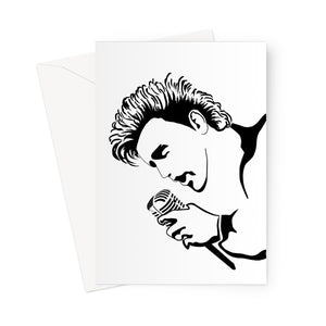 King Rocker Greeting Card