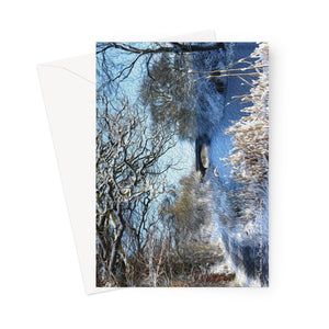 Union Canal in Winter Greeting Card