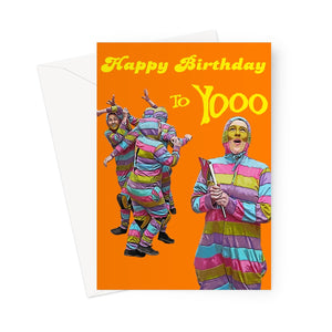Zany Birthday Greeting Card