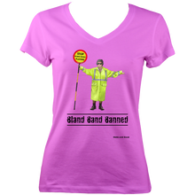 Load image into Gallery viewer, Bland Band Banned - V-Neck