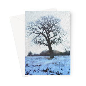 Winter Treescape Greeting Card