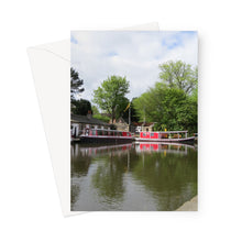 Load image into Gallery viewer, Linlithgow Canal Basin - Greeting Card