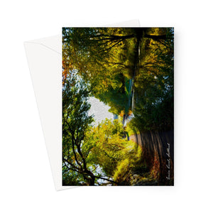 Union Canal (oil) Greeting Card