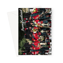 Load image into Gallery viewer, Scottish Pipers Greeting Card