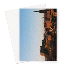 Load image into Gallery viewer, Edinburgh Castle Sunset (oil) Greeting Card