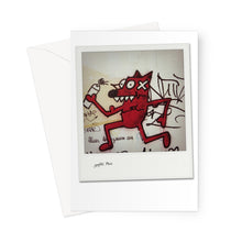 Load image into Gallery viewer, Graffiti Dog Paris Polaroid Greeting Card
