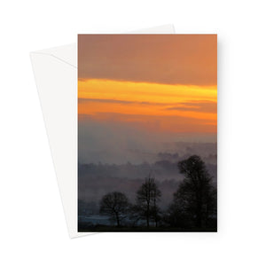 Linlithgow Sunset Greeting Card
