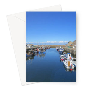 Eyemouth Harbour, Scotland - Greeting Card