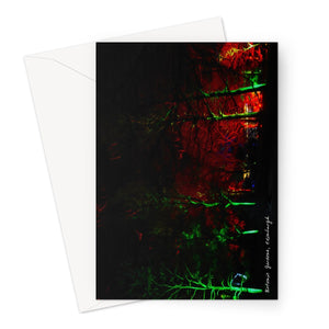Botanic Night Woods (oil) Greeting Card