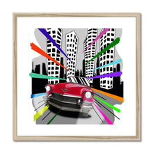 Load image into Gallery viewer, Red Cadillac Comic Framed & Mounted Print