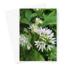 Load image into Gallery viewer, White Wild Flowers - Greeting Card