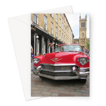 Load image into Gallery viewer, Red Cadillac - Greeting Card