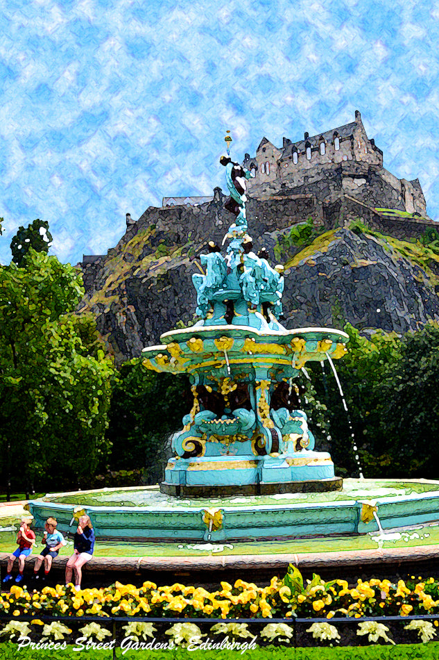 Edinburgh Fountain Postcard