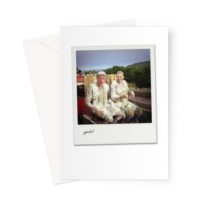 Gunked Polaroid Greeting Card
