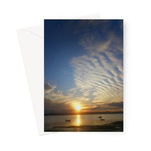 Findhorn Sunset (oil) Greeting Card
