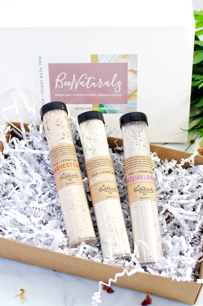 Milk + Honey Bath - Gift Box Bath Trio