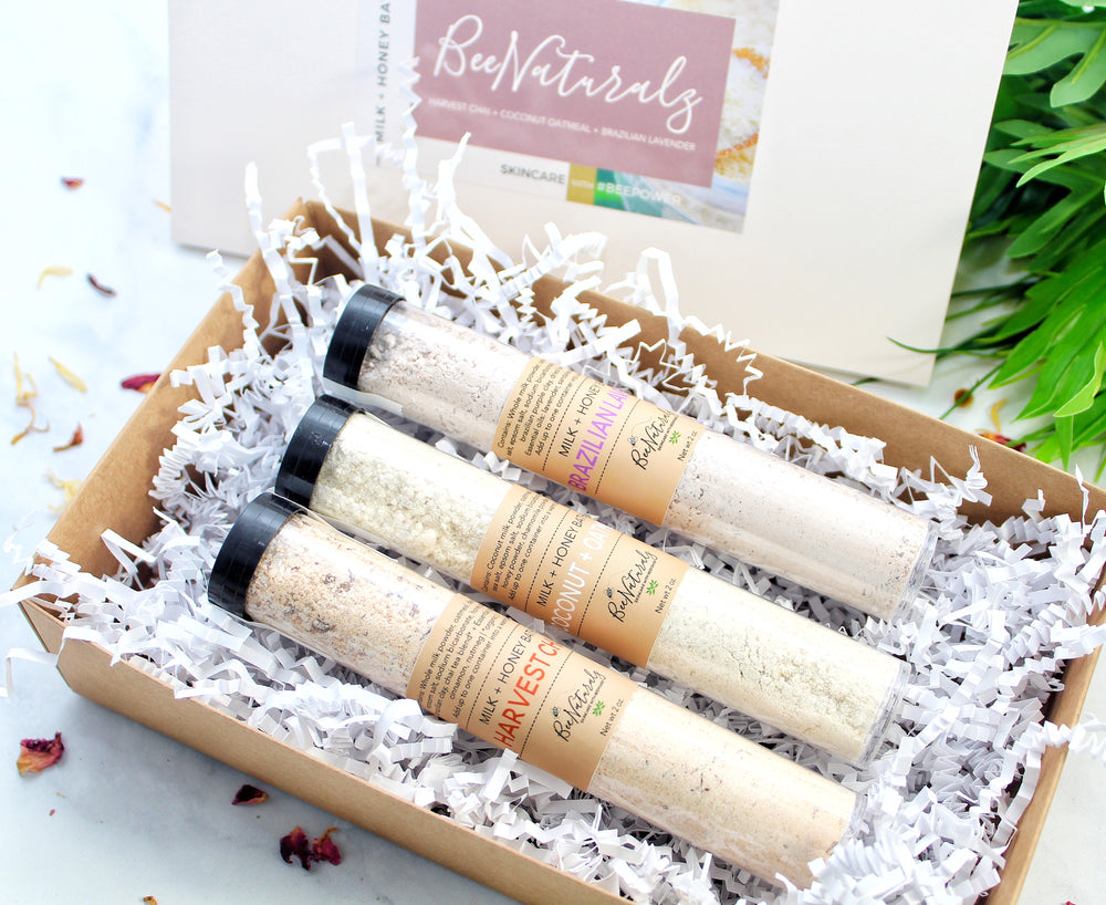 Oat + Honey Bath Milk - Gift Box Bath Trio