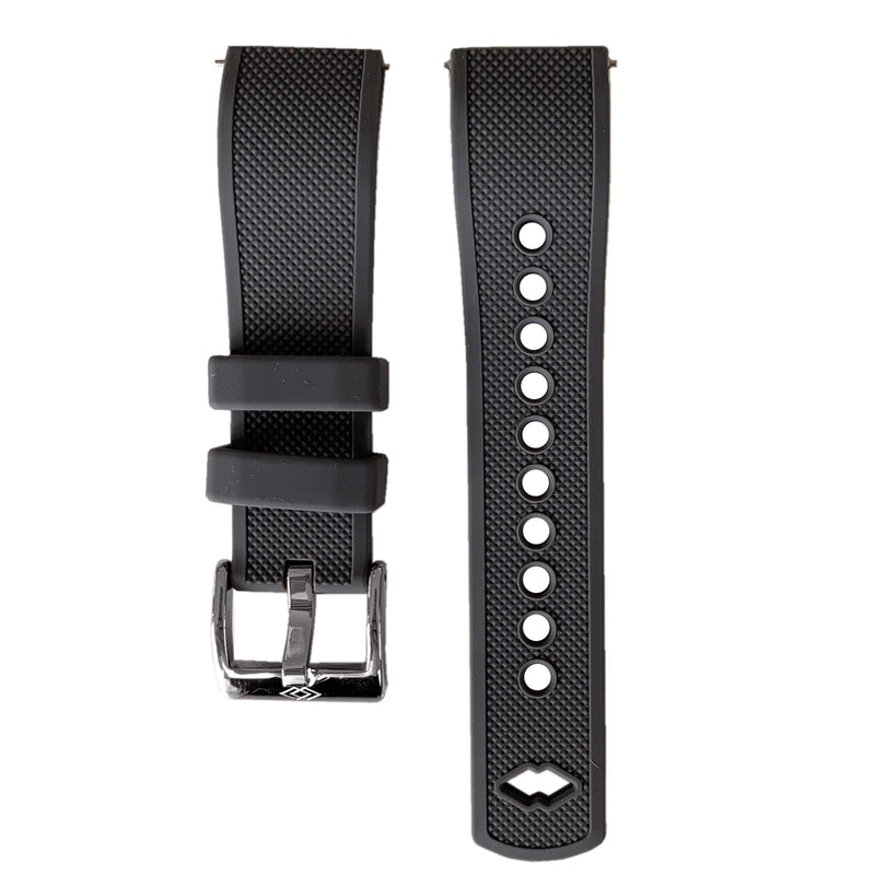 Grey Rubber strap with steel buckle