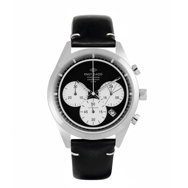 Cult Chronograph | White dial | Black Leather bracelet
