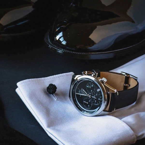 Cult Chrono | Black dial | Black leather