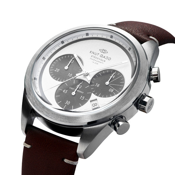 Cult Chronograph | White dial | Brown Leather bracelet