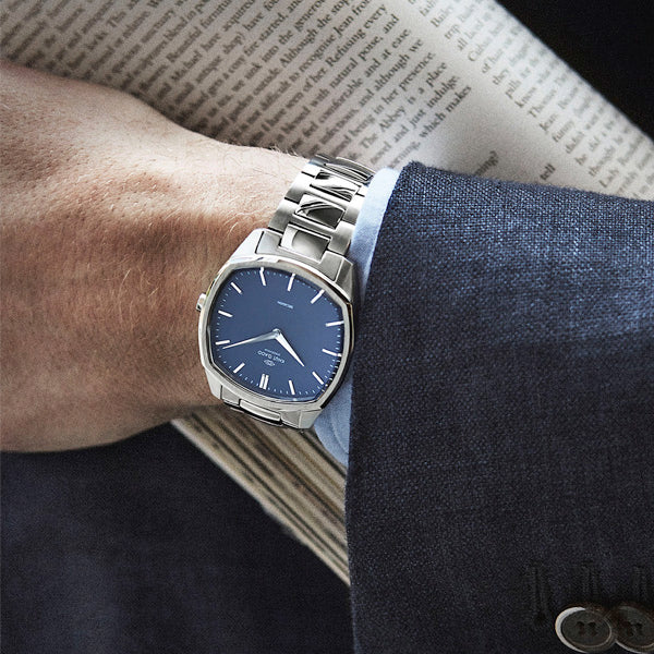 Decagon | Steel | Blue Steel bracelet