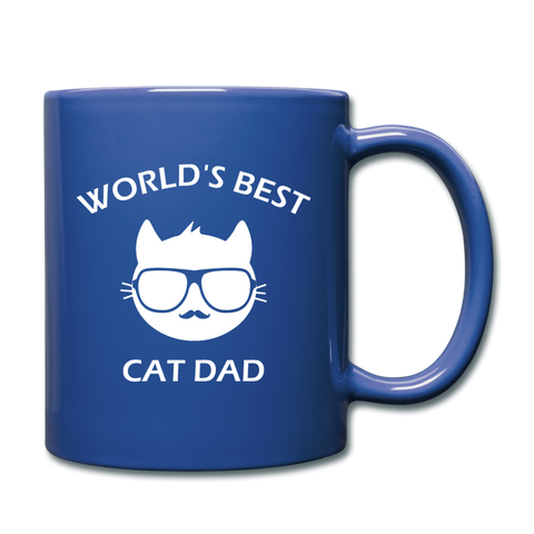 Cat Dad Mug (WhiteText) - royal blue