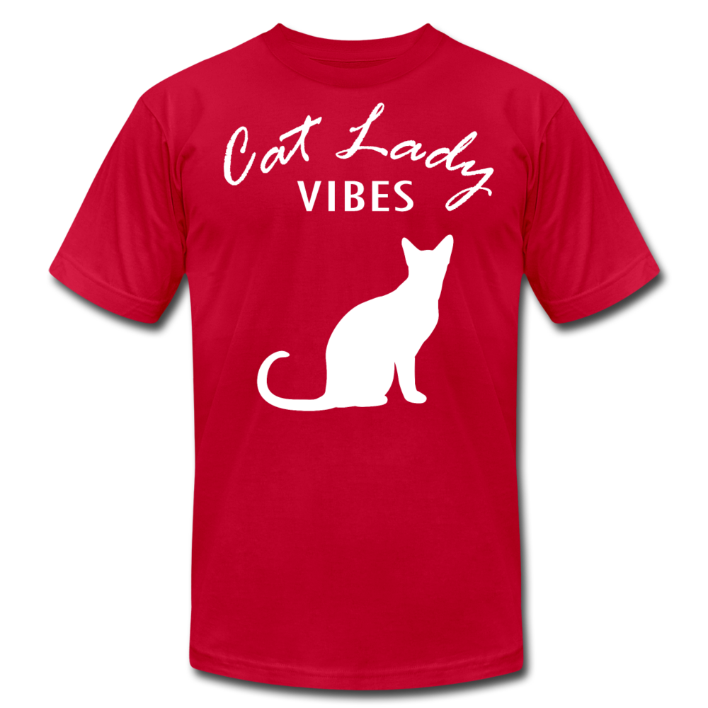 Cat Lady Unisex T-Shirt - red