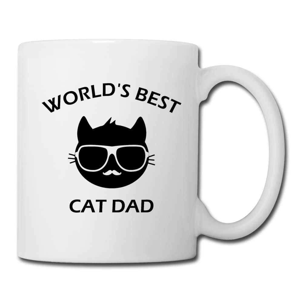 Cat Dad Mug (B) - white