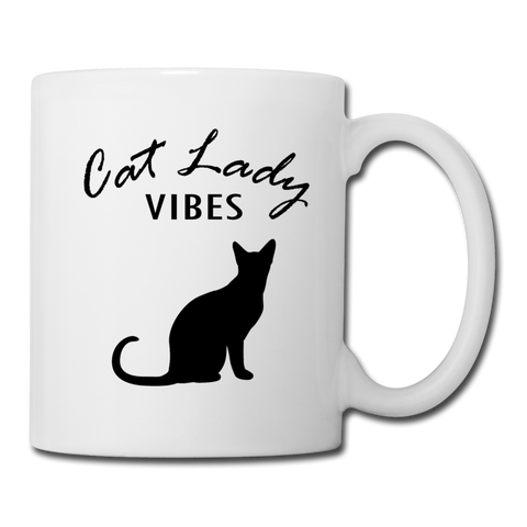 Cat Lady Mug (B) - white