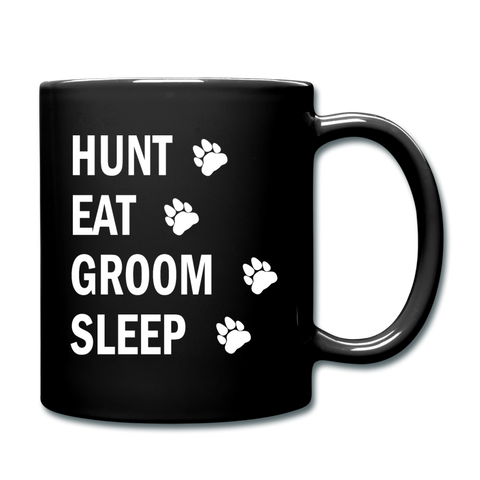 Hunt Eat Groom Sleep Mug (W) - black