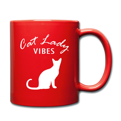 Cat Lady Mug (W) - red