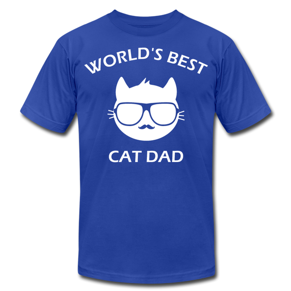 Cat Dad Unisex T-Shirt (W) - royal blue