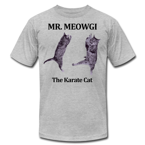 Mr Meowgi Unisex T-Shirt (W) - heather gray