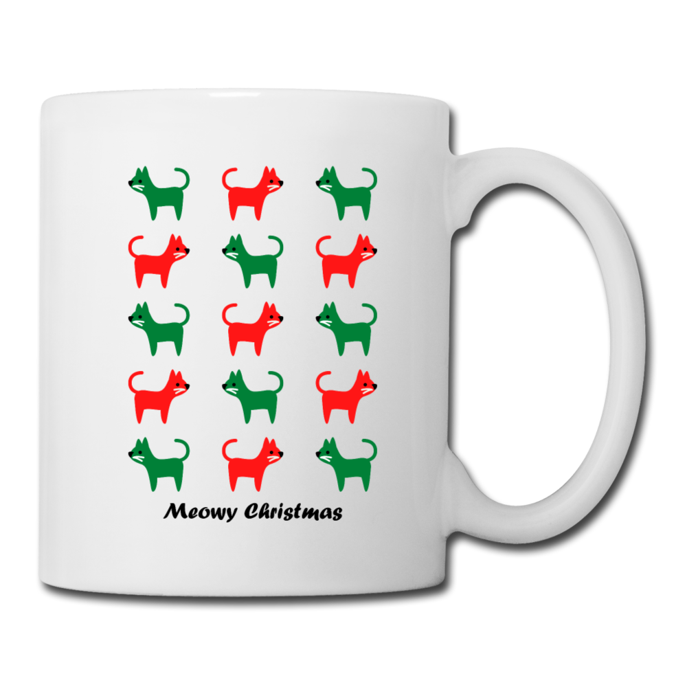 Meowy Christmas Mug - white
