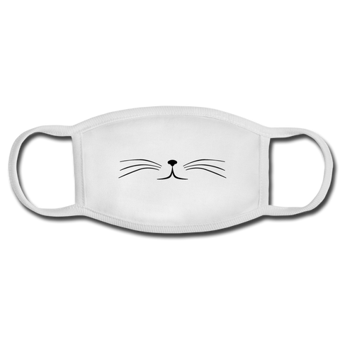 Whiskers Face Mask - white/white