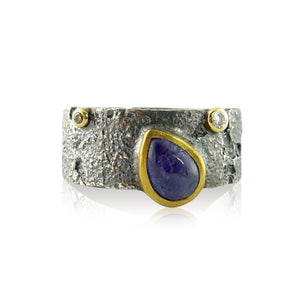 8mm Bedrock Band with Tanzanite