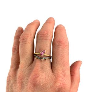 Alaria Nesting Band with Pink Sapphire