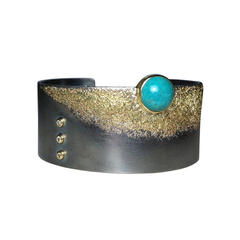 Cuff with chrysocolla