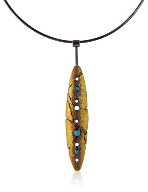 Tapered Cove Pendant  - Turquoise