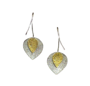 Double petal earring, brite